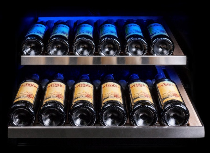 Двухзонный винный шкаф Dunavox